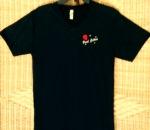 Unisex Paul Cotton V-neck Black T-shirt