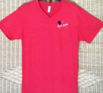 Red Unisex Paul Cotton V-neck T-shirt